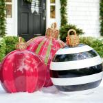 Cheap And Easy Outdoor Giant Christmas Ornaments That Are Freakin Cute