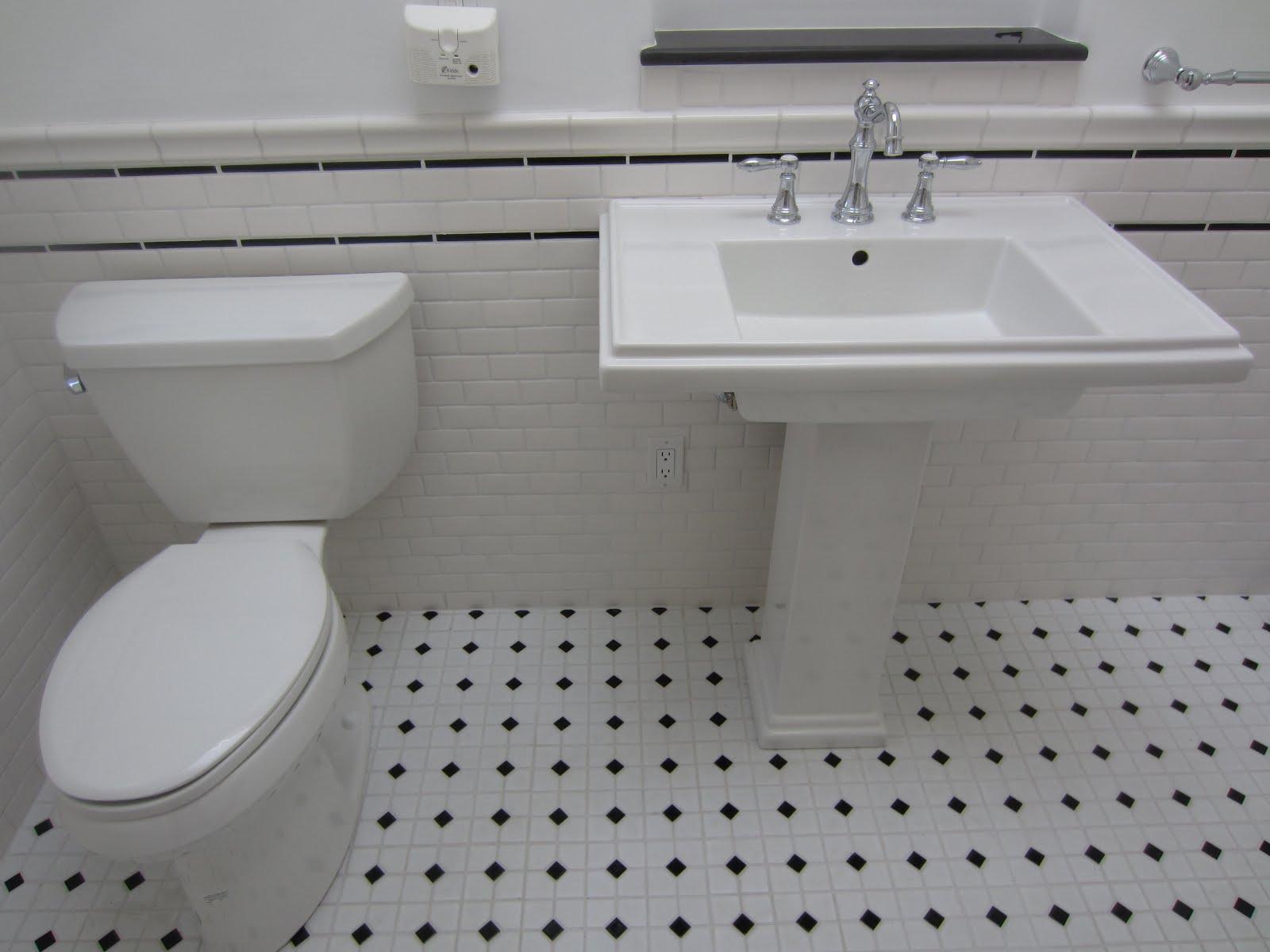 past vintage bathroom tile ideas