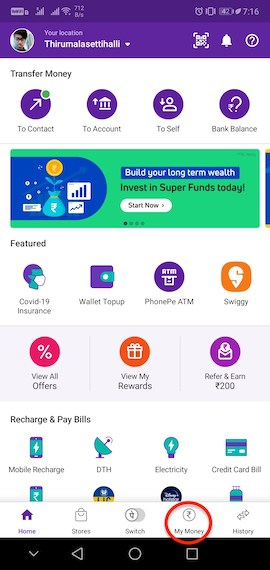 How to change UPI pin in phonepe