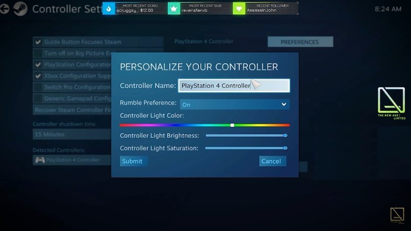 how to change ps4 controller color