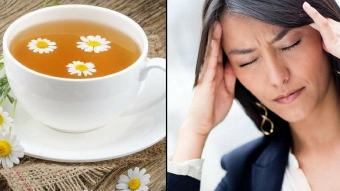 chamomile tea for the natural alleviation of migraine
