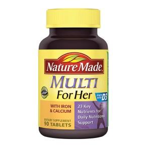 multi vof her with iron multivitamin