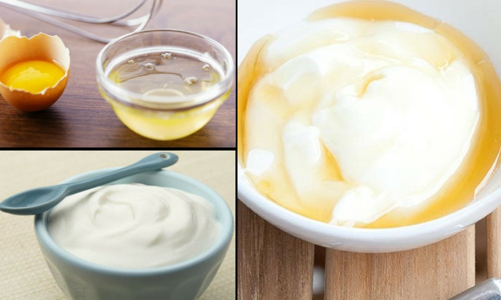 Egg Whites and Yogurt Pack for Bleached Hair