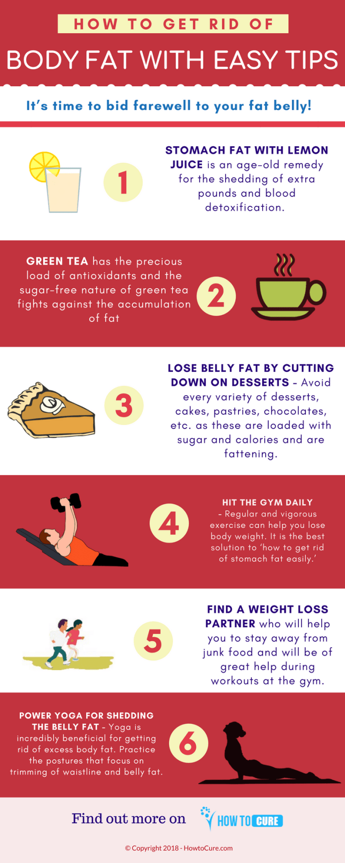 how to get rid of body fat tips - infographic