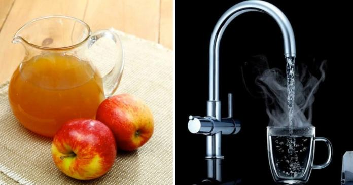 apple cider vinegar and warm water for warts