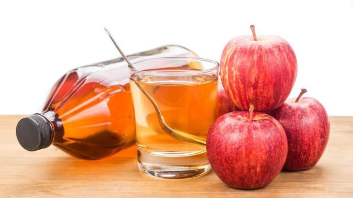 apple cider vinegar for milia