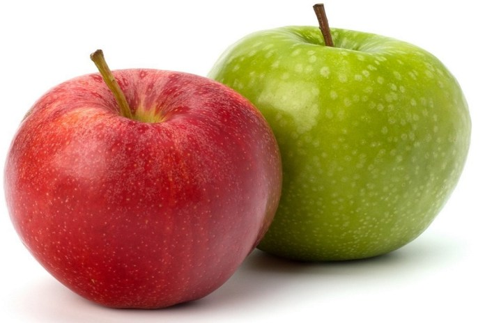 fresh red and green apples for weight loss