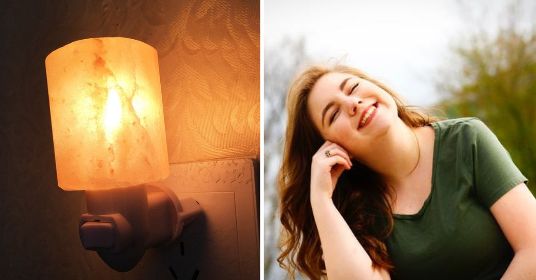 himalayan salt lamp for boosts mood