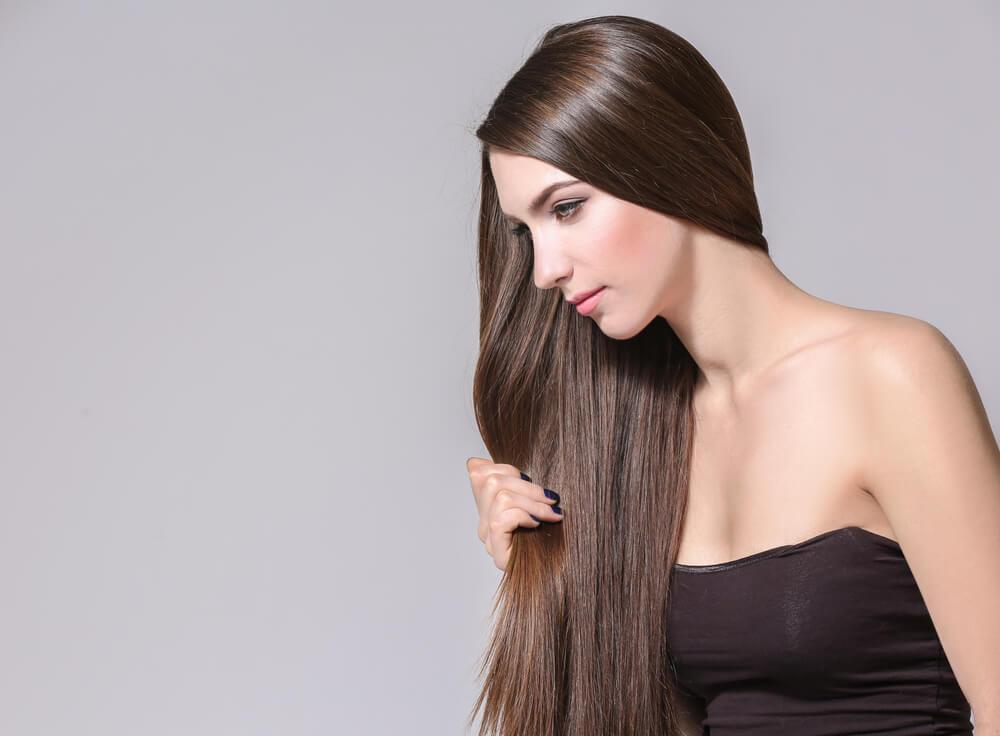 healthy hair using castor oil
