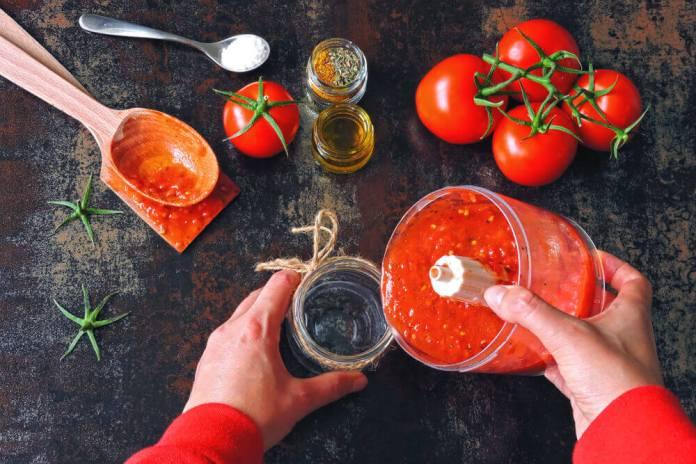 Tomato paste for cellulite