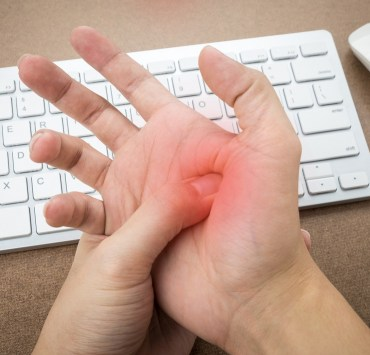 sneezed hand