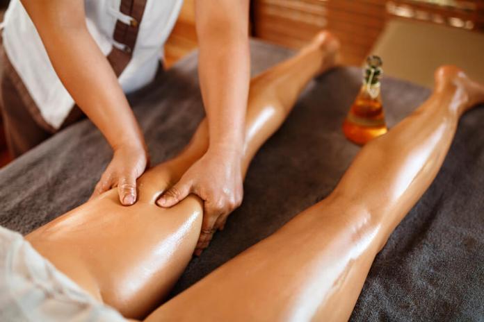 oil massage for legs