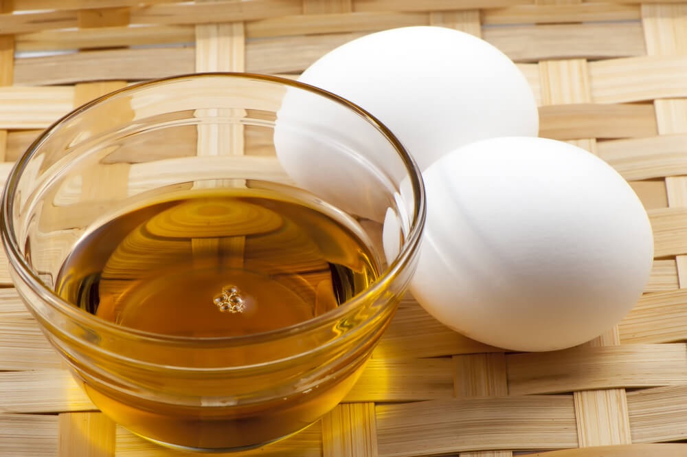Olive oil and egg for hair