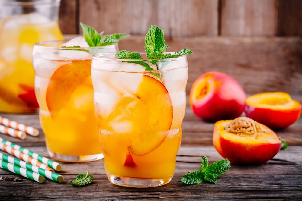 Peach juice for constipation