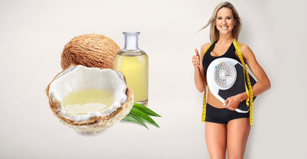 woman using coconut oil for weight loss