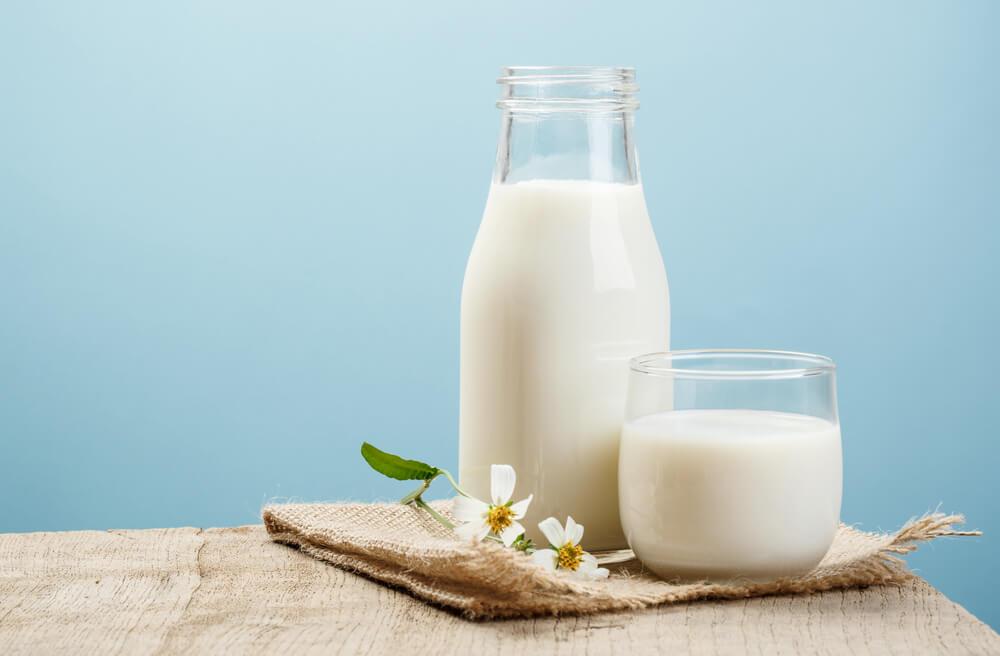 milk and baking soda