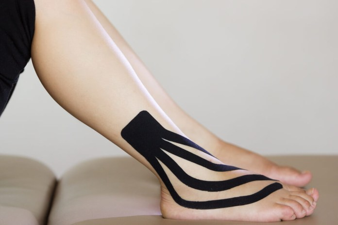 KT Tape for Ankle Sprain