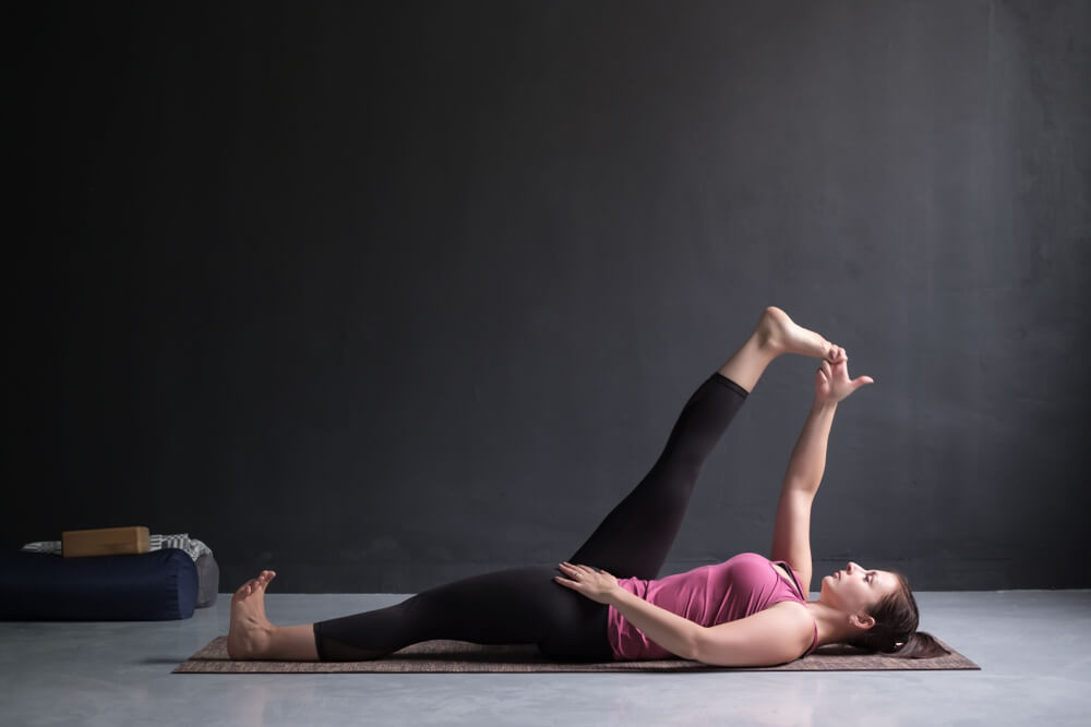 Reclined Hand-to-Big-Toe Pose