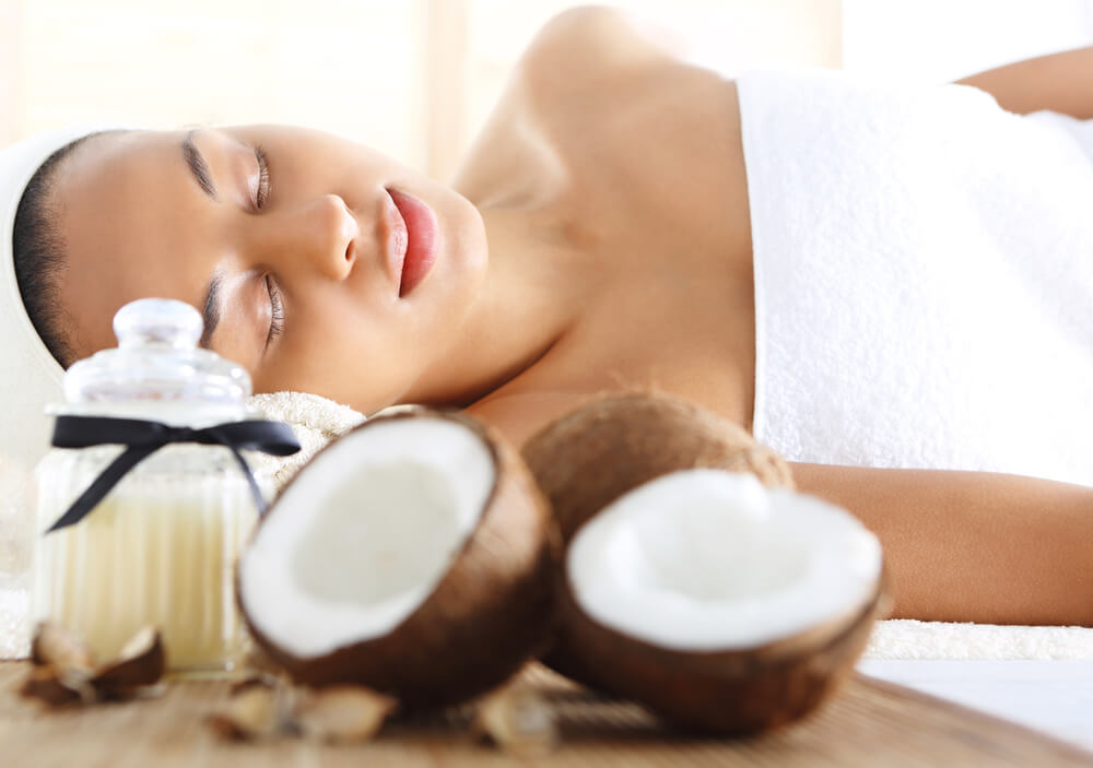 massage with coconut oil
