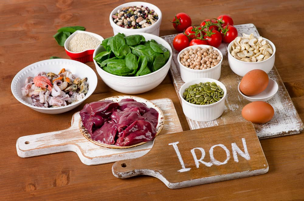 menu items for Iron