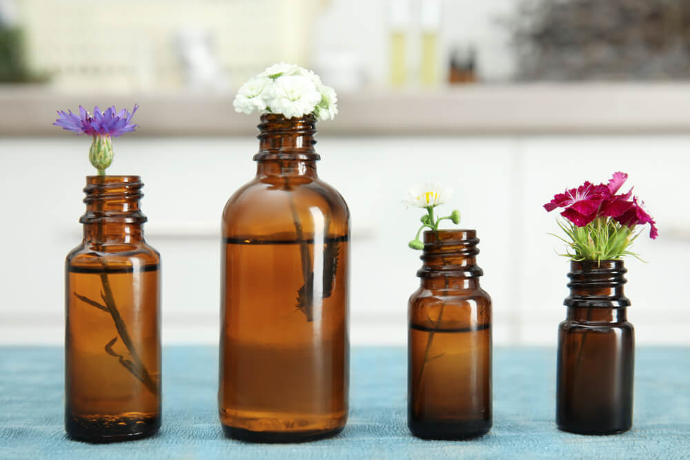 essential oils in bottle