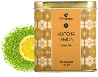 Octavius Japanese Lemon Flavoured Matcha Green Tea Powder
