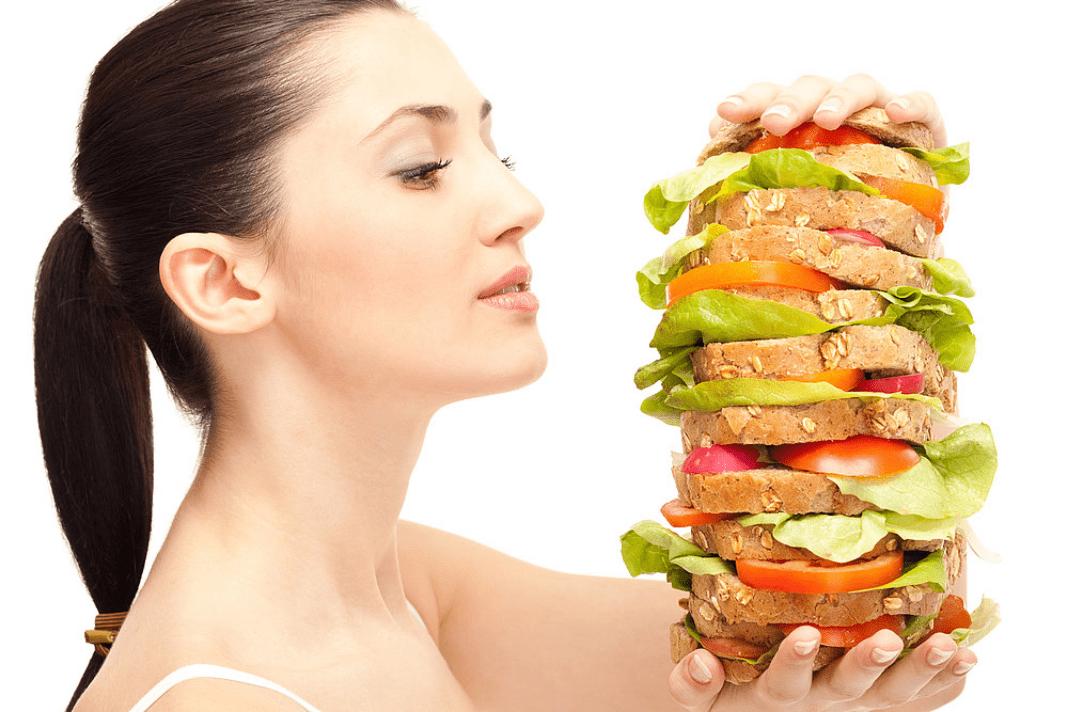 overeating healthy food