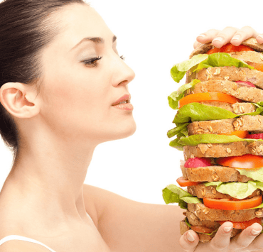 overeating healthy food