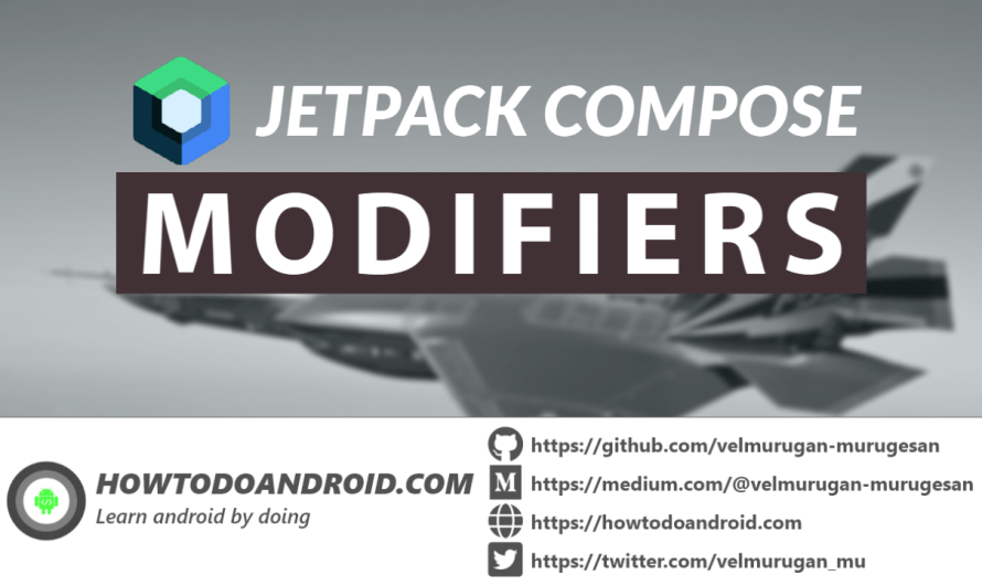 Getting started with jetpack compose – Modifiers
