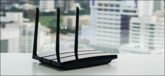 Wireless router on the table