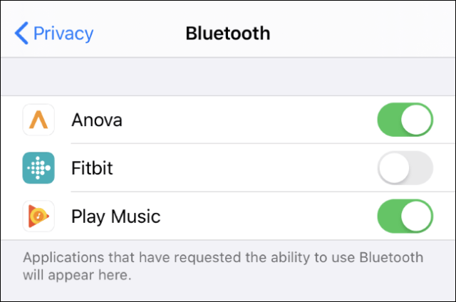 View and control which apps can use Bluetooth on an iPhone or iPad.