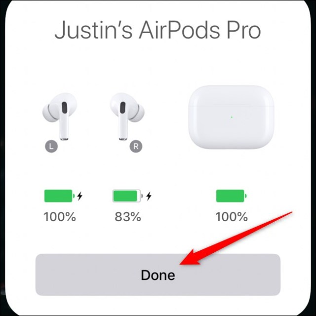 Apple AirPods Pro Pair with iPhone Tap Done