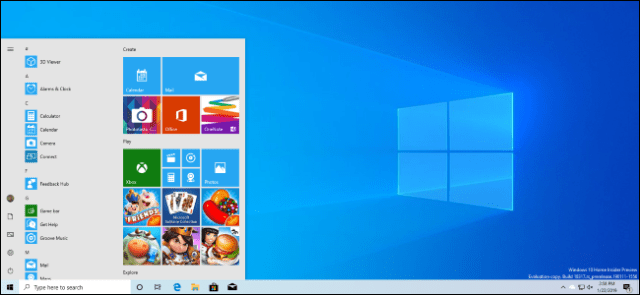 A Windows 10 desktop with the new bright theme of the April 2019 update