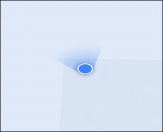 The blue location icon in Google Maps