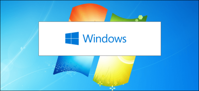The Windows 10 installer splash screen against a Windows 7 desktop background.