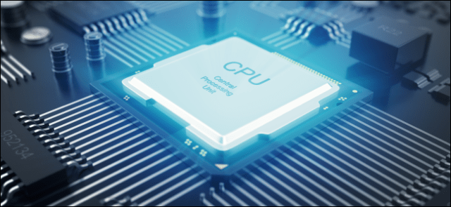 A stylized processor on a motherboard