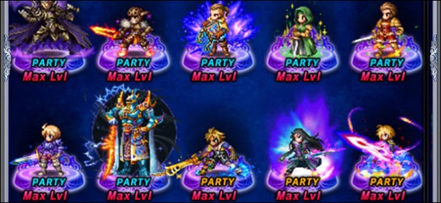 10 characters in a Gacha role-playing game.
