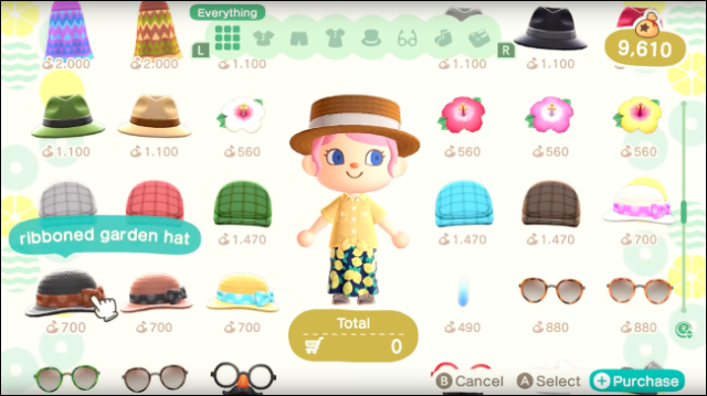 to choose an avatar outfit in Animal Crossing: New Horizons