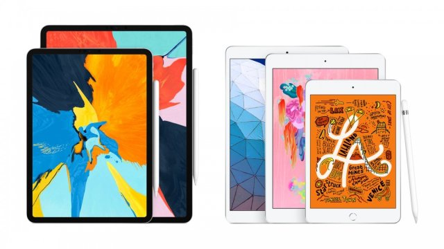 A range of different Apple iPads.