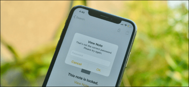 Apple Notes showing password is bad prompt for locked note