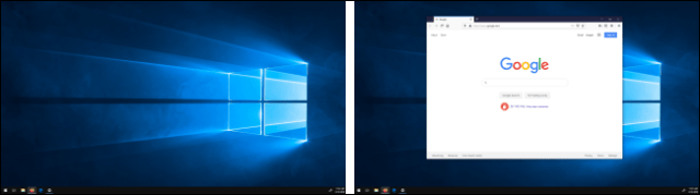 Move a window between views in Windows 10