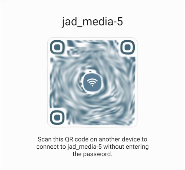 Scan the generated QR code