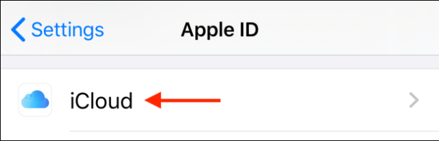 Select iCloud in the profile