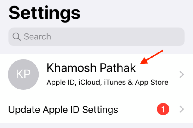 Select the profile in Settings