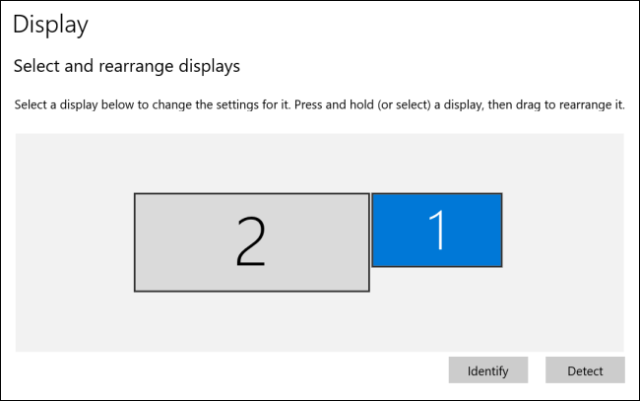 Screens have been reorganized in Windows 10