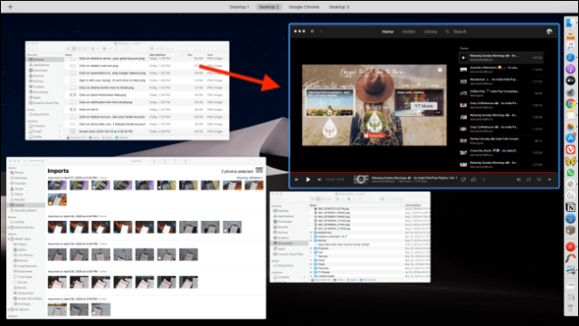 Click on a Mission Control window to access it