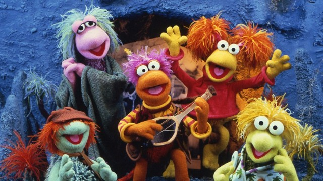 A photo from the cast of Fraggle Rock.