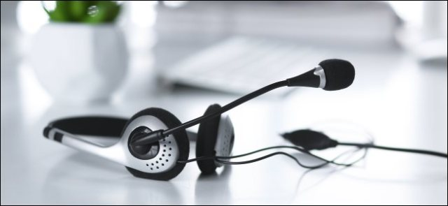 Headphones with a built-in microphone, which can reduce background noise.