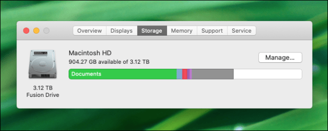 Checking free disk space in macOS Catalina