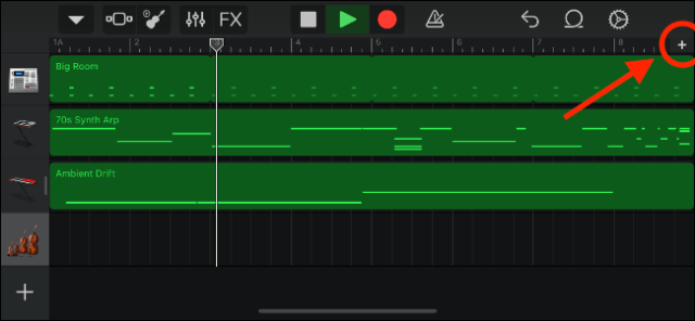 GarageBand commands to customize song sections